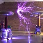 Large Tesla coils at Nottingham Gaussfest