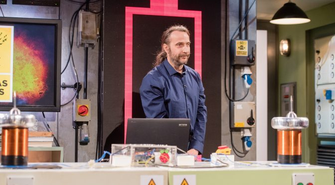 PIZero Tesla Coils at the RI Christmas Lectures